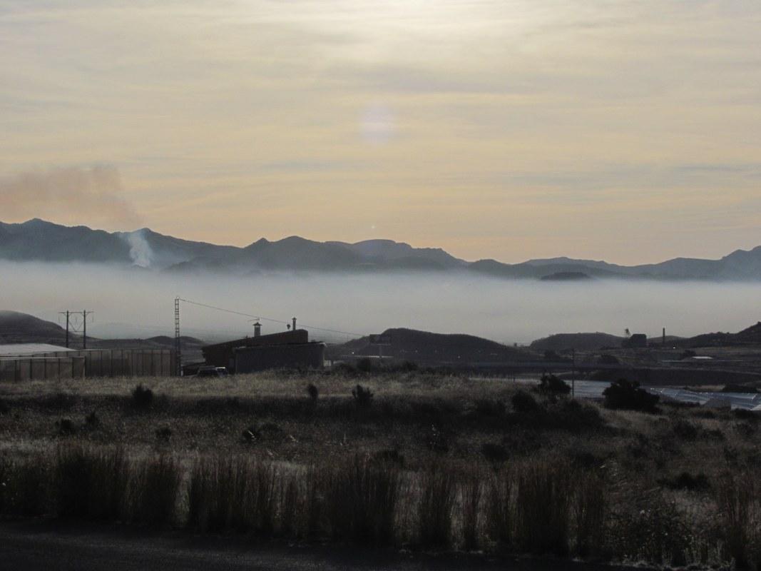 Nube de humo en Mazarrón (abril-mayo 2017). Imagen: EeA
