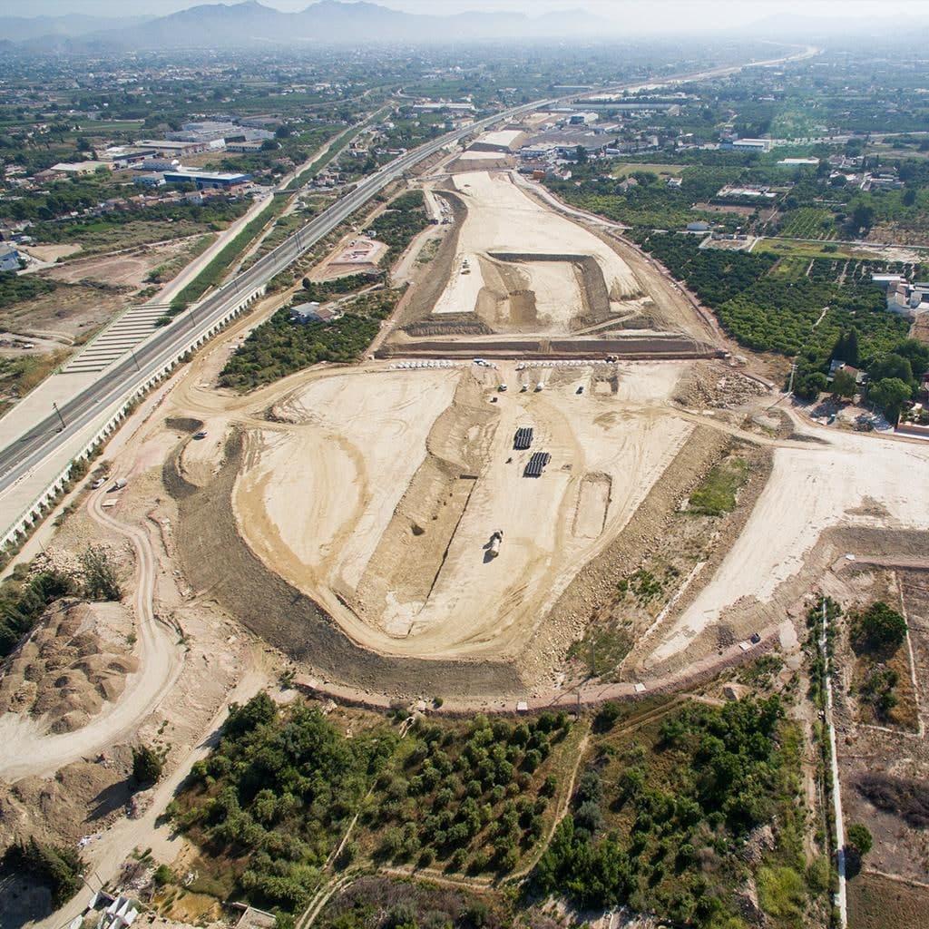 Obras en al autovía de la huerta de Murcia. Imagen: Huermur