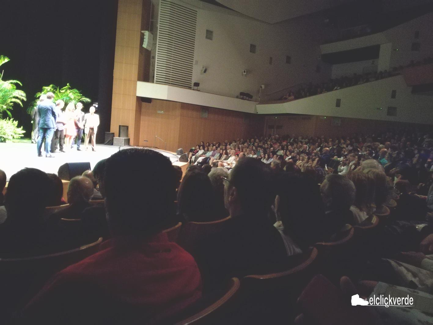 El Auditorio Víctor Villegas, lleno