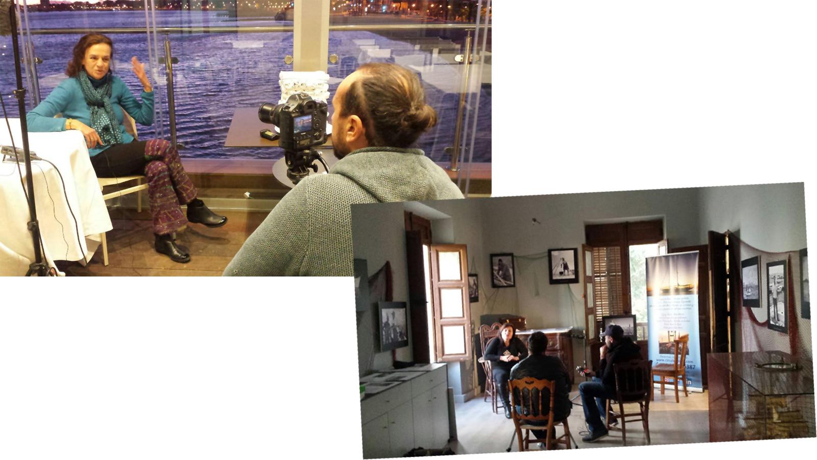 Dos momentos de la grabación. Imagen: Pacto por el Mar Menor