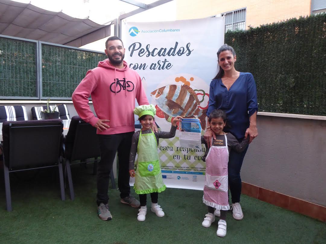La familia Sánchez González, ganadora del concurso de vídeos MasterPez. Imagen: Asociación Columbares