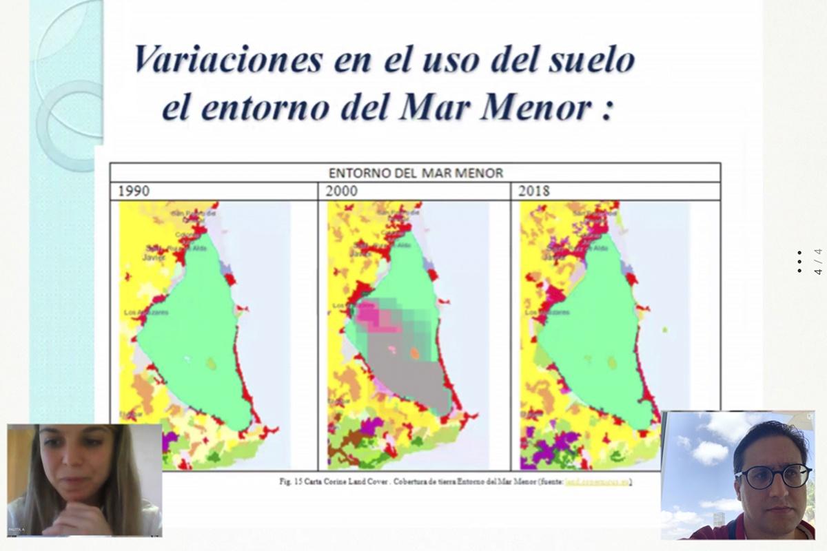 La playa de la  Ensenada del Esparto de La Manga del Mar Menor ha sufrido una regresión de casi 45 metros desde la construcción de Puerto Mayor en los años 80 del siglo XX. Imagen: UPCT