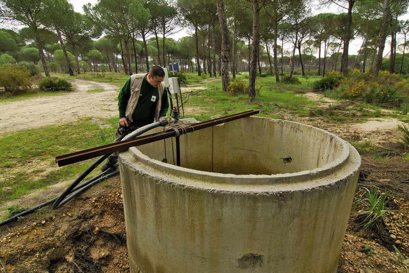 Pozos ilegales en Doñana. Imagen: Jorge Sierra / WWF