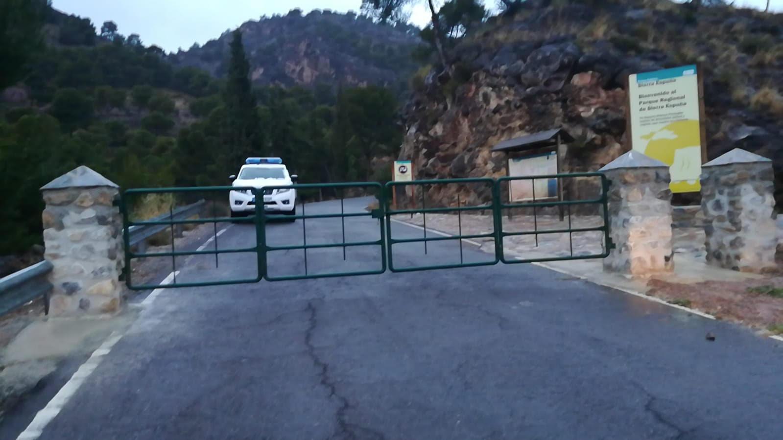 Acceso al PR de Sierra Espuña. Imagen: CARM