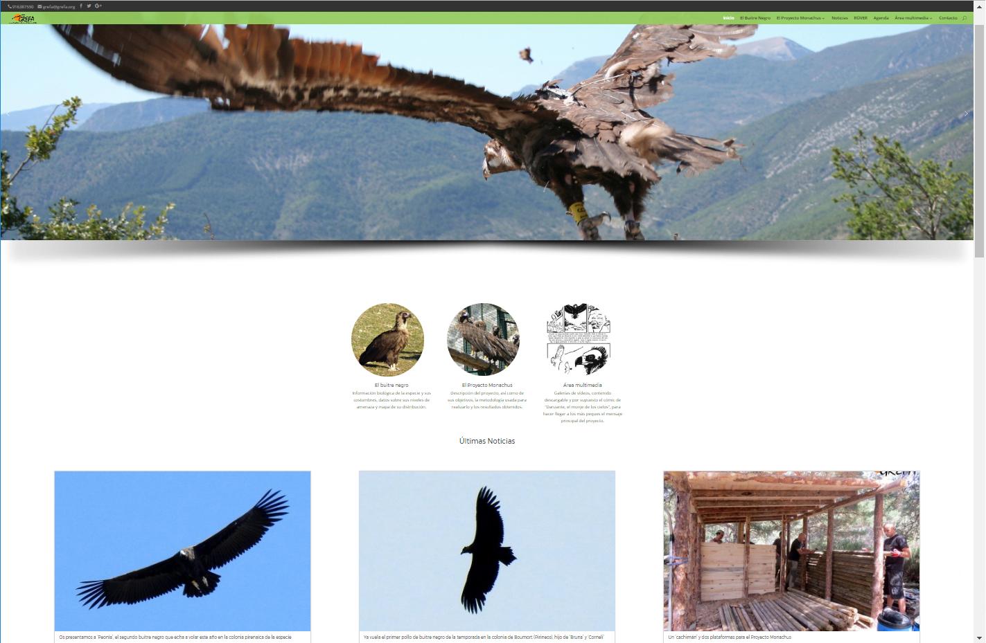 Portada de la web del Proyecto Monachus