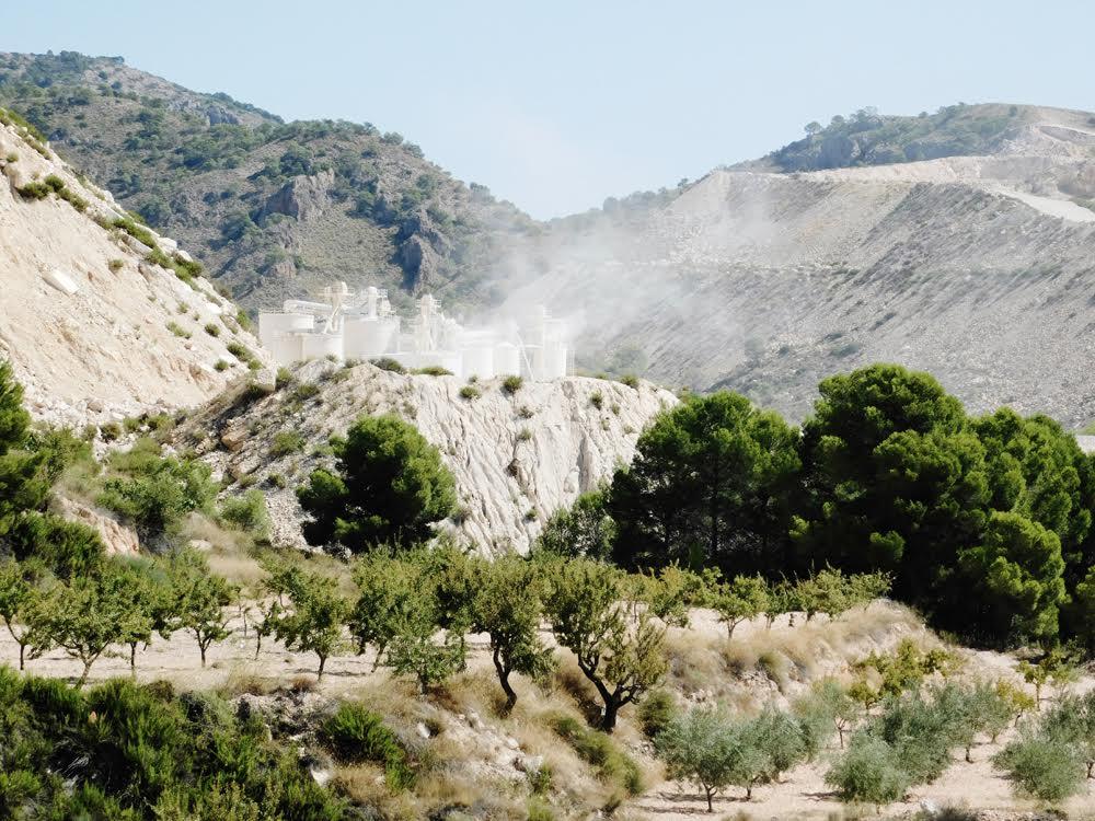 Las explotaciones están produciendo graves daños en el entorno, destruyendo la naturaleza e inundando de polvo la vegetación natural y la flora amenazada. Imagen: Acude