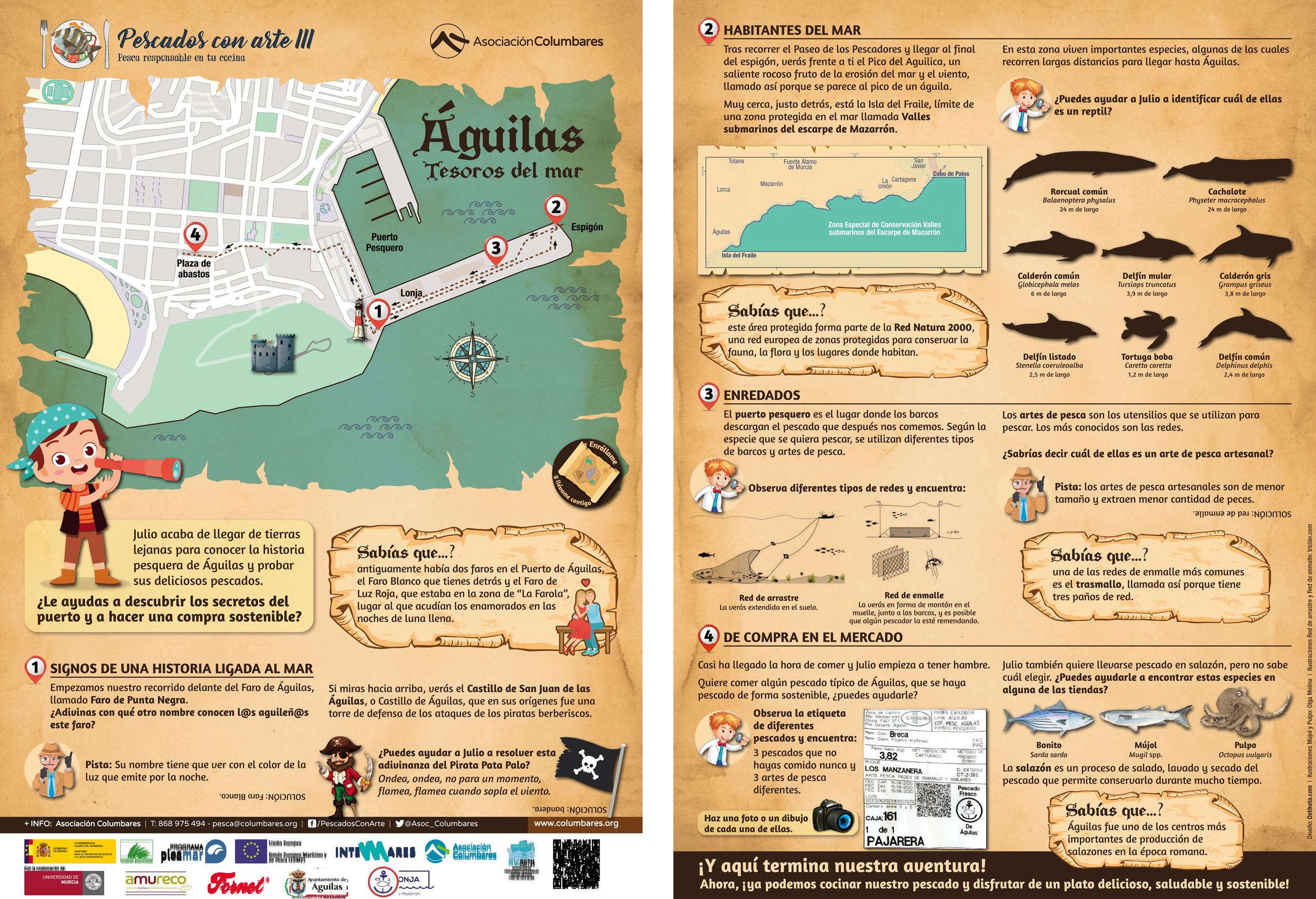 Ruta autoguiada por Águilas, de Pescados con Arte III de la Asociación Columbares