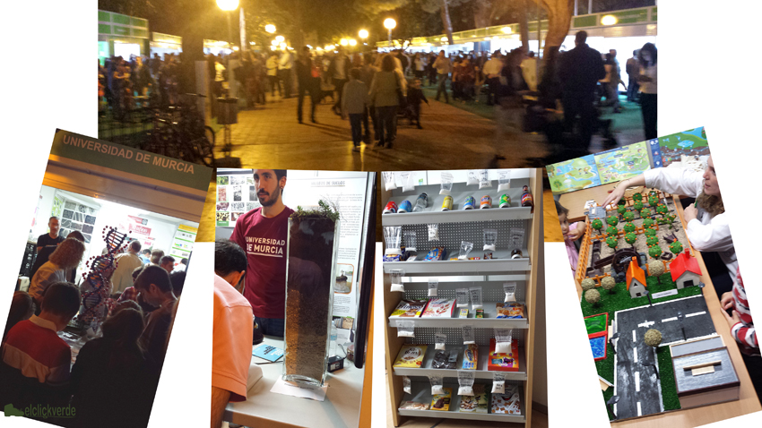 ADN, suelos, azúcares, el uso del agua... de todo en la Semana de la Ciencia y Tecnología de la Región de Murcia 2015.