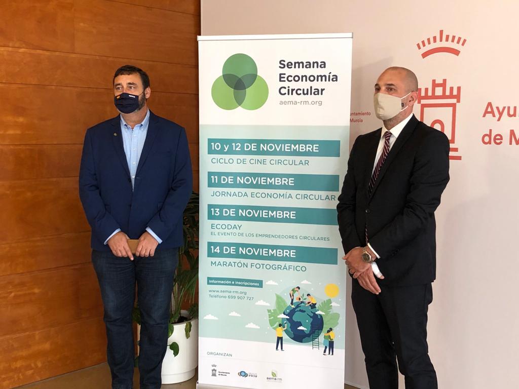 Un momento de la presentación de la Semana de la Economía Circular. Imagen: Ayto. de Murcia