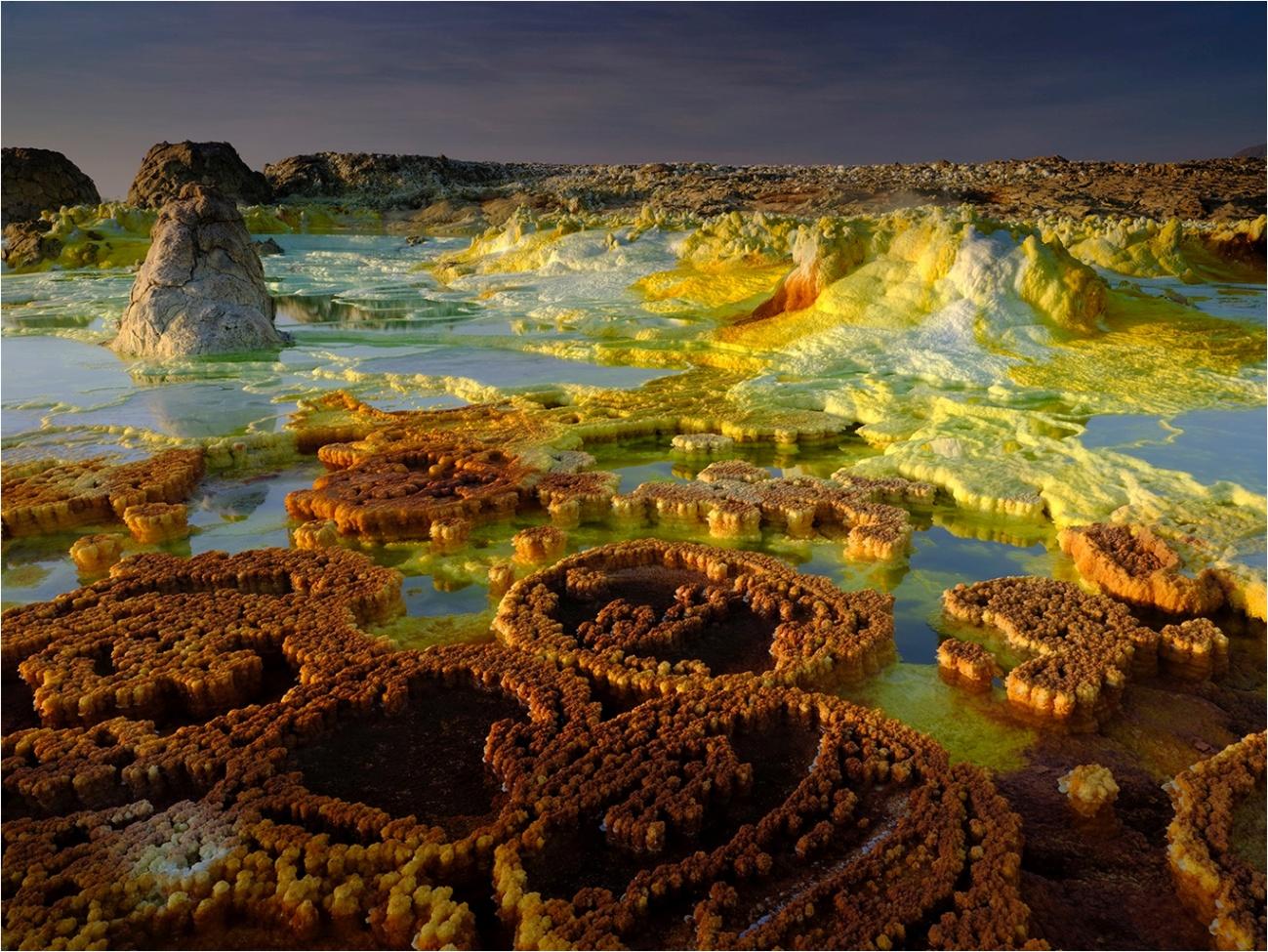 Sistema hidrotermal de Dallol, en Etiopía. Imagen: Olivier Grunewald / CSIC