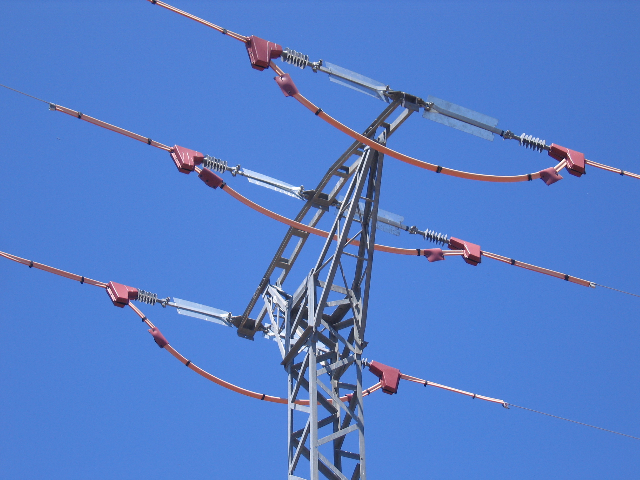 Aspecto del apoyo de un tendido eléctrico ya intervenido para evitar que mueran las aves. Foto: Plataforma SOS Tendidos Eléctricos