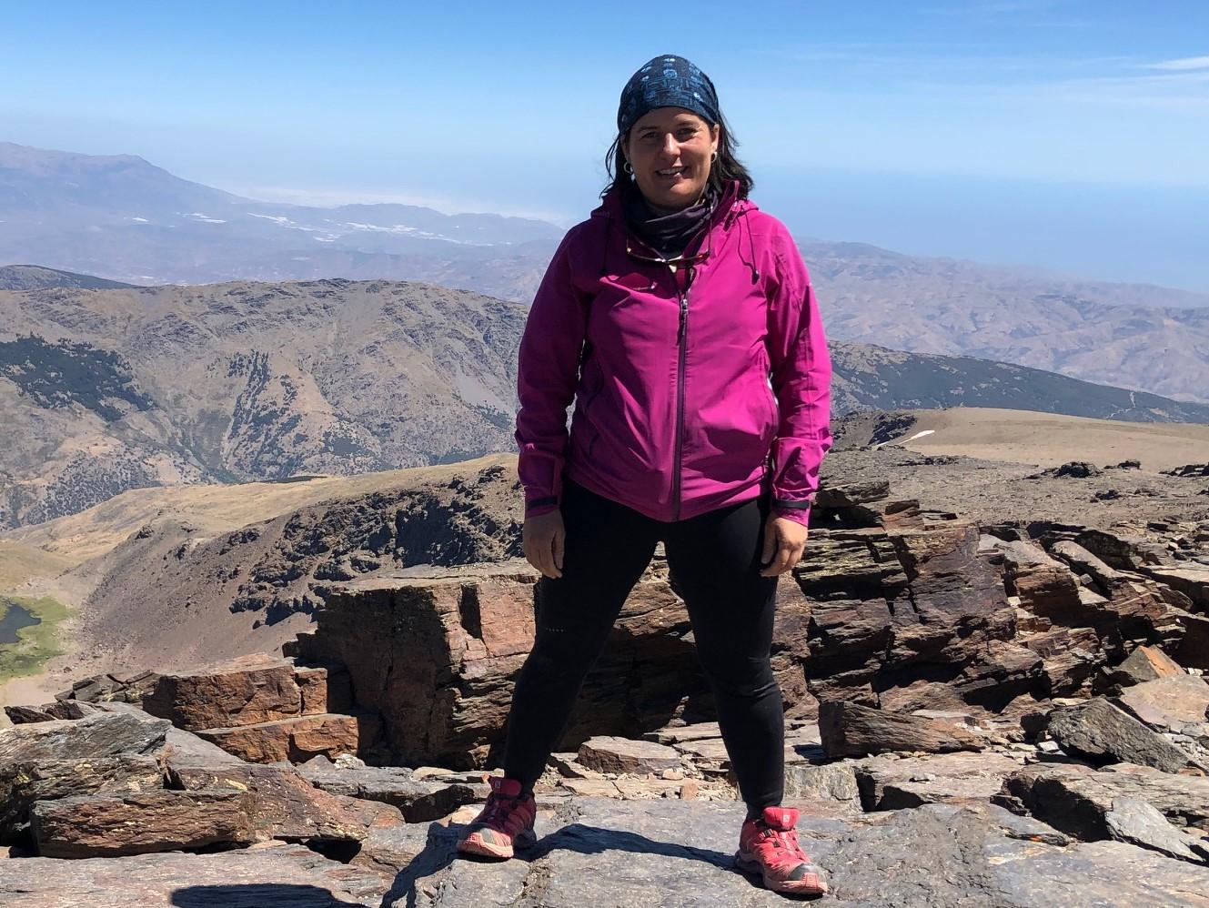 La naturalista y coordinadora de voluntarios en el Estrecho para COCN Susana Noguera Hernández