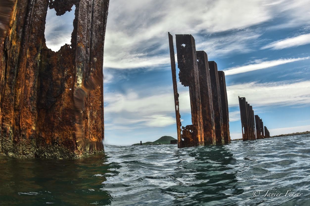 Deterioro de las tablestacas del recinto portuario, cuya retirada será cada vez más difícil y costosa, según ANSE. Imagen: ANSE