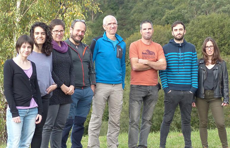 Ane Caro, Miren Aldasoro, Amaiur Esnaola, Joxerra Aihartza, Inazio Garin, Urtzi Goiti, Unai Baroja y Nerea Vallejo. Imagen: UPV/EHU