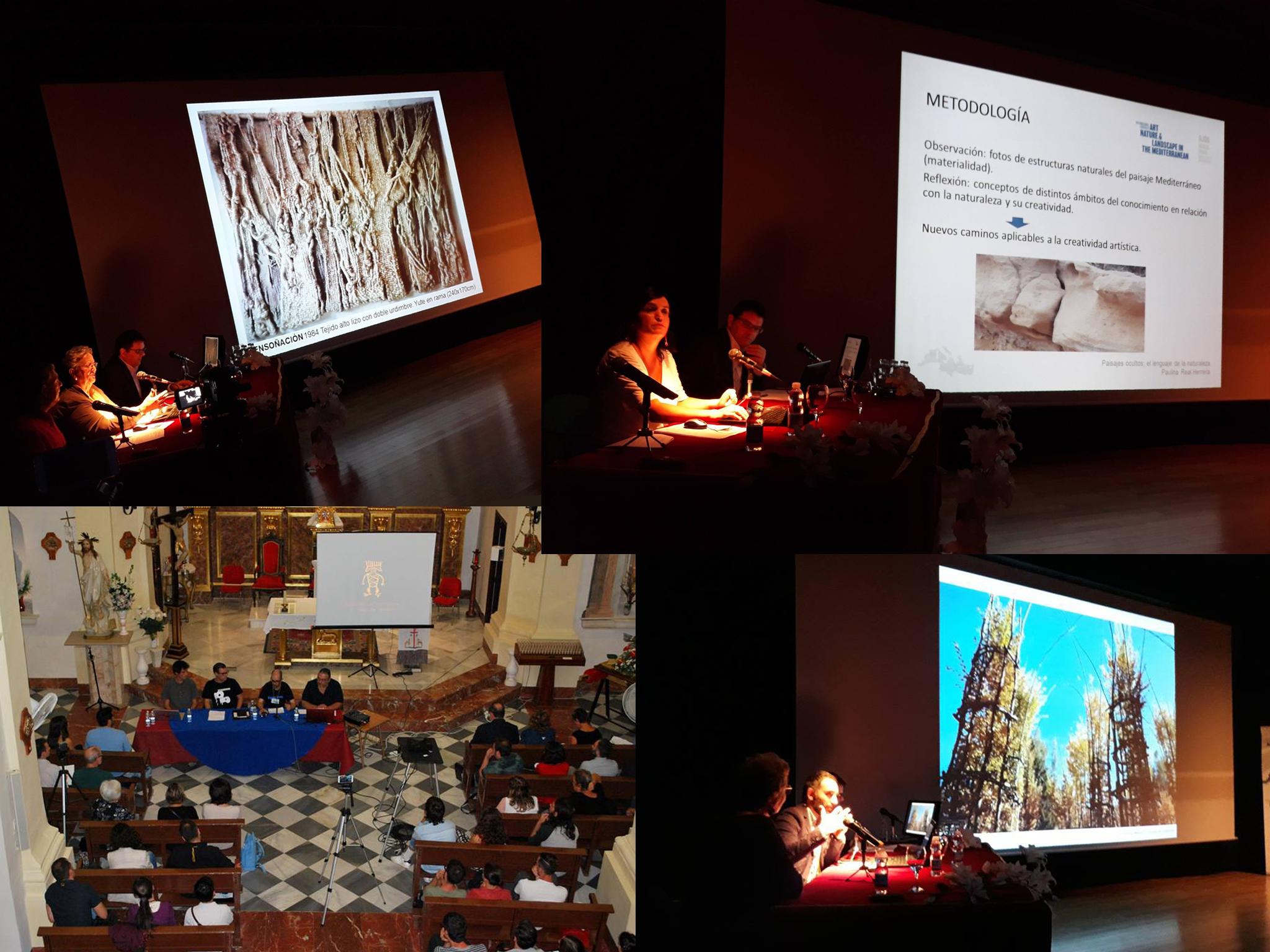 Varias ponencias. Imagen: Congreso Internacional de Arte, Naturaleza y Paisaje en el Mediterráneo