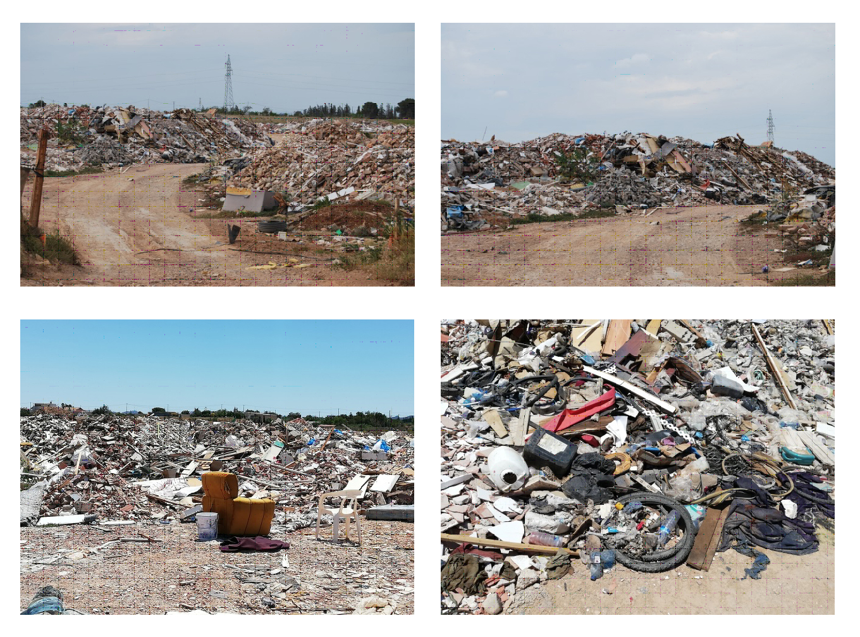 Diversos residuos en el vertedero ilegal de Los Segados, Cartagena. Imagen: ANSE