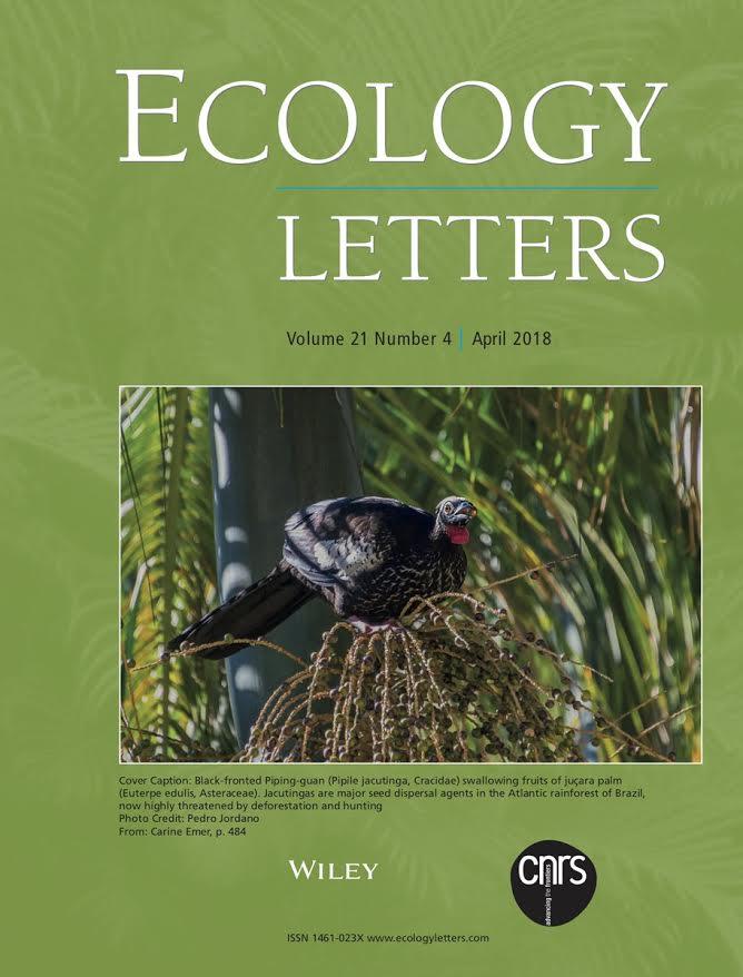 Portada de la revista científica Ecology Letters. Imagen: RJB-CSIC