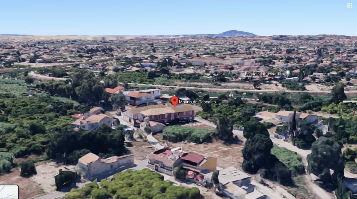 Vista aérea del molino de Cascales. Imagen: Huermur