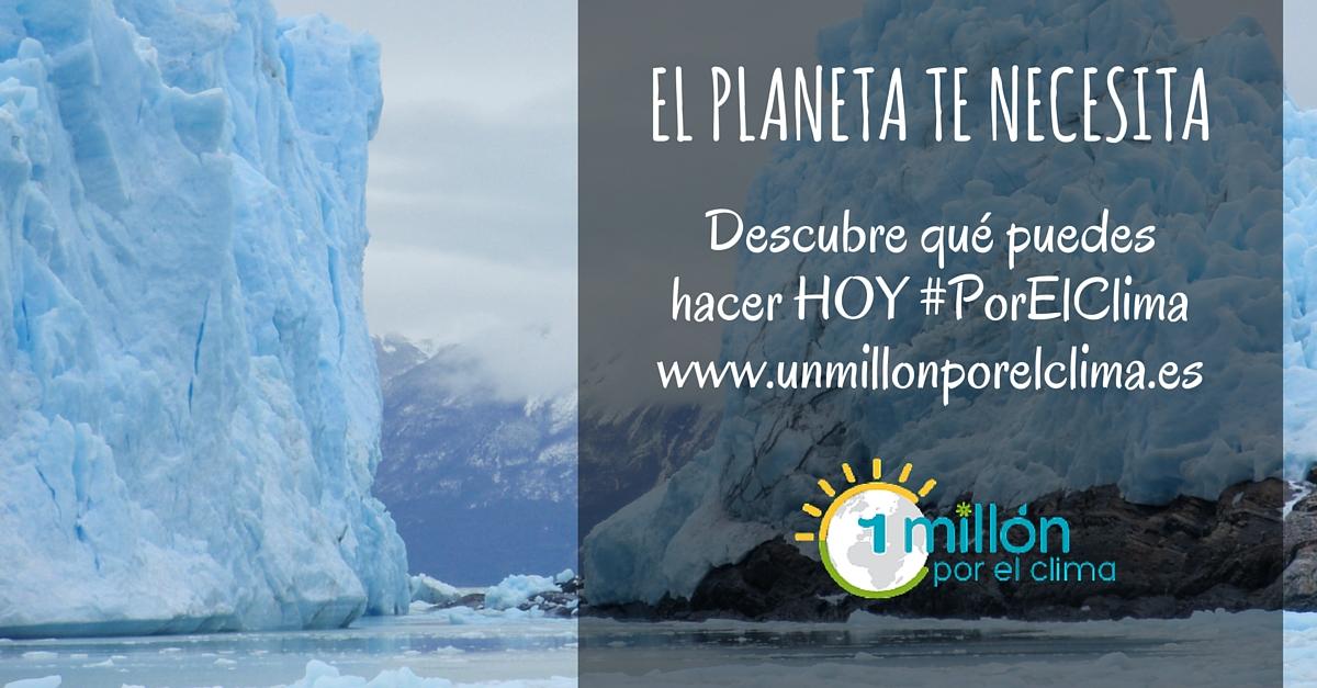 Una de las imágenes de la campaña que anima a ser una VOZ #PorElClima.