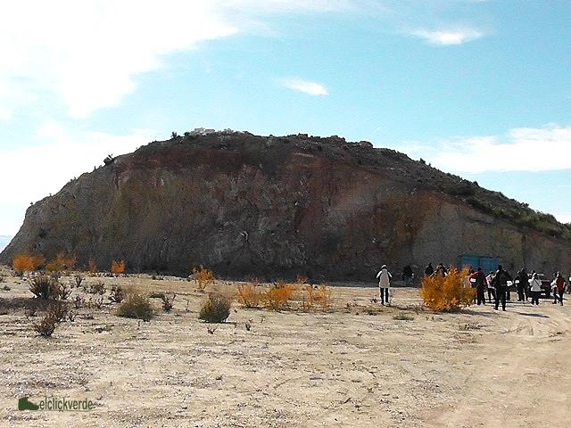 Falla de Alhama de Murcia. Arriba, el Yacimiento de la Tira del Lienzo