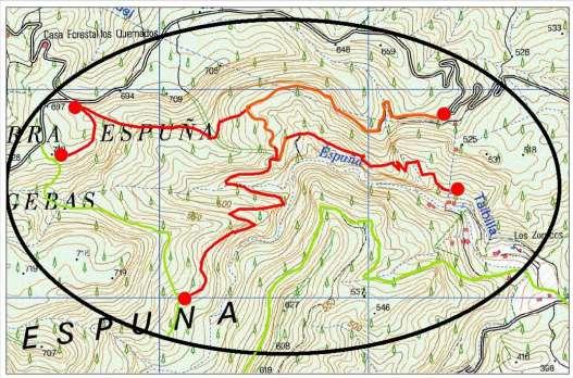 Zonas restringidas temporalmente-Cuevas Luengas-2018. Imagen: CARM